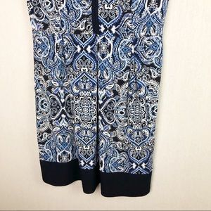Enfocus Studio Dresses - Enfocus Studio Blue Paisley Printed Dress